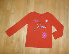 GYMBOREE FALL HOMECOMING ORANGE MAD ABOUT DAD LS TOP GIRLS 4 FALL WINTER COTTON