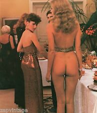 Vintage Color Photo - Nude Naked Girl At Cocktail Party (Humor, Funny)
