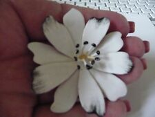 VINTAGE ORIGINAL BY ROBERT  ENAMEL FLOWER BROOCH/CORSAGE 1960'S SIGNED