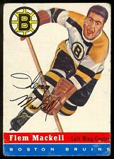 1954-55 TOPPS HOCKEY #36 FLEM MACKELL VG-EX BOSTON BRUINS CARD FREE SHIP TO USA