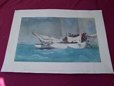 """Homer Winslow's  Water color print, """"Key West-Hauling Anchor"""" Nat Gallery of Art"""