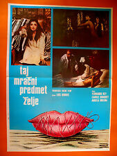 OBSCURE OBJECT OF DESIRE 1977  LUIS BUNUEL CAROLE BOUQUET RARE EXYU MOVIE POSTER