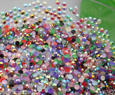 5000 pcs Mixed Sizes - Mixed AB Flat Back Resin Rhinestones Diamante DIY Beads