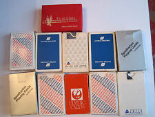 LOT OF 11 VTG AIRLINE PLAYING CARDS - AA - JAPAN AIR - UNITED - DELTA &MOR -TUBA