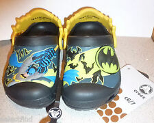 MARVEL BATMAN GLOW N THE DARK CROCS TODDLER BOYS SLIP ON WATER SWIM SHOES~NW~6-7