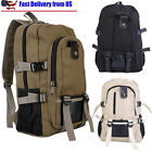 Men's Vintage Travel Canvas Backpack Rucksack School Outdoor Satchel Hiking Bag