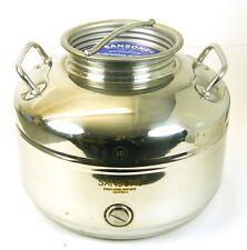 10 litri in Acciaio Inox Serbatoio / contenitore per l'olio d'oliva, vino, ecc.. 10 LITRI