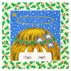 *New* LEE Darling Holiday Angel handpainted Needlepoint Canvas on 16 Mesh