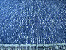 3 Yards Quilt Cotton Fabric - Red Rooster Katagami Woven Denim