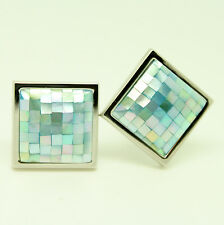 Blue Mosaic Mother Of Pearl Cufflinks