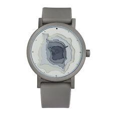 """Projects Watches """"Terra-Time"""" Quarzo Acciaio Grigio Silicone Uomo Orologio"""