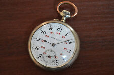 Antique Swiss pocket watch Henry Moser & Cie Hy Moser open face 24 hours dial
