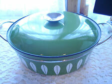"""Mid Century Catherineholm Green/White Lotus  Large 10 1/2"""" Covered Dutch Oven"""