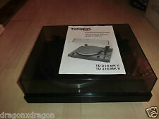 Thorens TD 318 Mk II 2 high-end tocadiscos turntable, guía, 2j. garantía