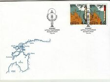 Estonia Lighthouse 2005 First DayCover (FDC) with 2 stamps on it