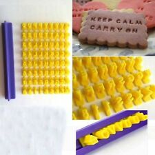 Nice Soap Mold Number Letter Pattern Cookie Biscuit Stamp Embosser Cutter 1pc