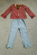 Halloween Werewolf Costume Top Pants Light And Sound Blue Red Age 4- 5-6 Years
