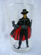 Verre publicitaire (glass) Walt Disney Production - Zorro tenant son épée