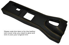 YELLOW STITCHING MANUAL CENTRE CONSOLE TRIM LEATHER COVER FITS JAGUAR E TYPE V12