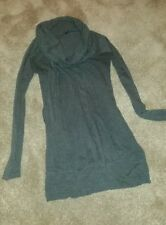 Charcoal Grey polo cowl neck tunic top - approx size 10