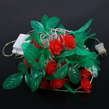 10m 48 LED Rose Flower String Lights for Bar Party Wedding Christmas Tree