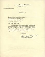 SANDRA DAY O'CONNOR Autograpged Signed Typed Letter US Supreme Court Justice