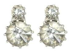 Queen Victoria's Two Stone Stud Earrings reproduction from Queen's Jewelery