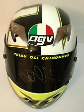 VALENTINO ROSSI HAND SIGNED AGV  TI TECH GOTHIC HELMET VR46 MOTOGP PROOF.