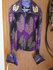 GIRLS CUSTOM WESTERN RAIL SHIRT SMALL WITH MATCHING HELMET COVER AND RIBBONS
