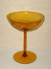 Vintage Large Amber Colored Stemmed Glass Compote  UNUSUAL
