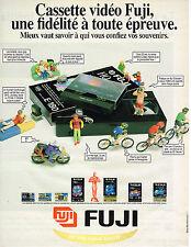 PUBLICITE ADVERTISING 045  1994  FUJI   cassettes vidéo VHS 180