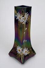 Iridescent and enamelled art glass vase Harrach? 1900 Belle Epoque Art Nouveau