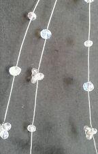 "15"" Hair Cascade wedding bridal vintage sparkling crystals+crystal clusters"