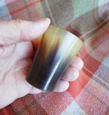 "Scottish Antique Cow Horn Cup 2 1/4"" Victorian Whiskey Dram / Shot Glass #5"