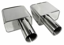 1970 - 1972 Corvette Exhaust Tips/Extensions. Stainless Steel. New