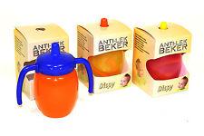 3er Set Kinder und Baby Trinklern Tasse mit 2 Griffen / Anti Tropf Becher