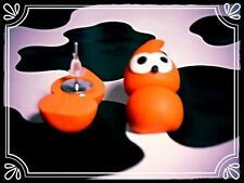 ** Zingy Stud Earrings EDF mascot - handmade silver-plated fimo **