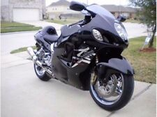Gloss Black w/ Chrome Fairing Injection for 1999-2007 Suzuki GSXR 1300 Hayabusa