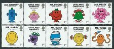 GREAT BRITAIN 2016 MR. MEN AND LITTLE MISS SET OF 10 IN 2 STRIPS UNMOUNTED MINT