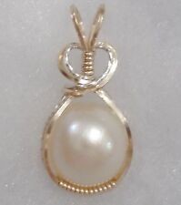Beautiful ~16MM ~ MABE PEARL PENDANT ~ Crafted USA ~ 14KT GF/SS