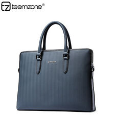 Mens Real Leather Business Urban Fashion Portable Briefcase Satchel Tote Handbag