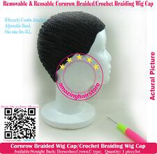 Crochet Braid Removable S Crown Stretchy PRO Cornrow Braided Wig Cap+Needle+Head