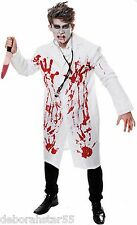 Adulte zombie sanglant médecin chirurgien savant fou halloween fancy dress costume
