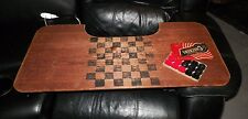 VINTAGE WOODEN LAP TOP CHECKER BOARD & LOWE TOURNAMENT CHECKERS