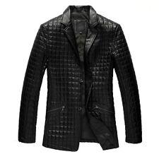 Custom Tailor Made All Size Men's Designer Checks Lamb/Sheep skin Leather Blazer