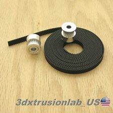 2pcs GT2 20T pulley and 2m timing belt for 3D printer reprap