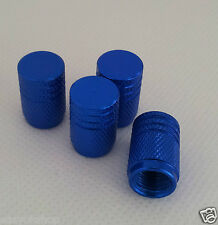 Blue Anodized Aluminum Tire Valve Stem Caps Set 4 Pcs