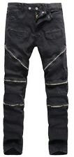 Fashion Mens Designed Chino Straight Leg Jeans Slim Fit Pants Denim Trousers 32