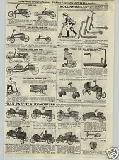 1917 PAPER AD Dan Patch Pedal Cars Racer Roadster Truck Irish Mail Kangaroo
