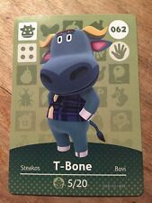 Animal Crossing Happy Home Amiibo Card T-BONE #62 Tbone